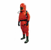 EasyChem Heavy Chemical protective clothing with SCBA outside