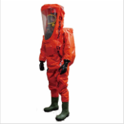 EasyChem Heavy chemical protective clothing with SCBA inside