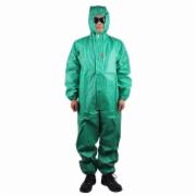 Green PVC splash tight protective coverall